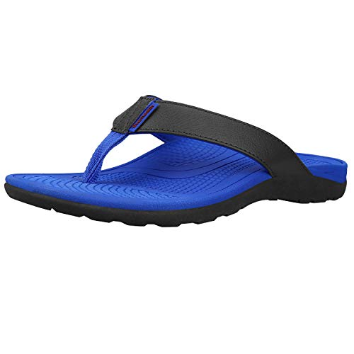 Everhealth Men's Orthotic Flip Flops & Sandals Ultra Comfort Arch Support for Flat Feet & Plantar Fasciitis, Heel Pain (Blue EU 40)