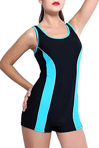 Charmo Damen Badeanzug- Geeignet Für Freizeit Und Sportanzug Einteiler Schwimmanzug XL