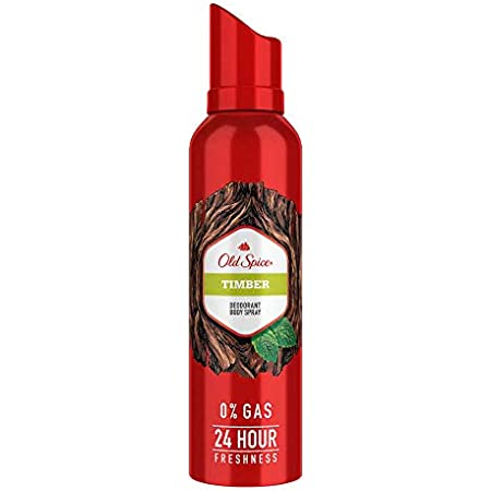 Old Spice Timber No Gas Deodorant Body Spray Perfume for Men (140 ml)