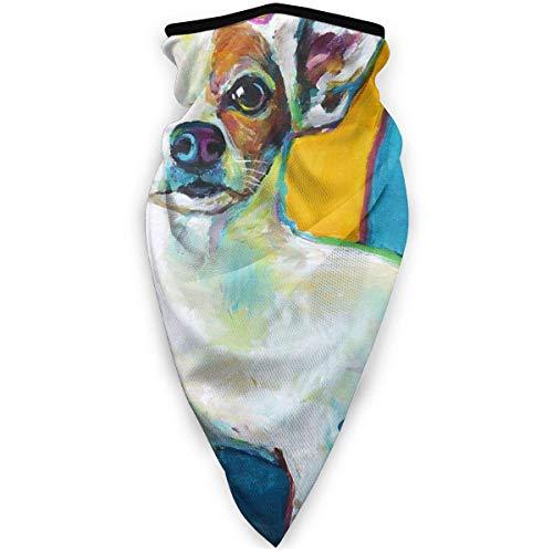 Lawenp Adorable Toy Chihuahua Throw Pillow Unisex Bandana Bufanda de cara Cuello...
