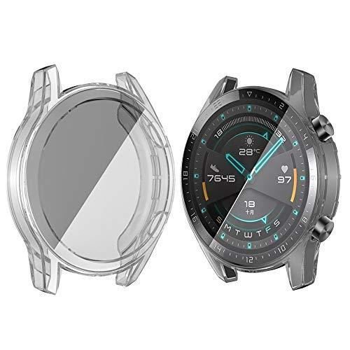 LISUHONG Ntd AYDD para Huawei Watch GT2 46mm TPU Todo Incluido Caja de Reloj (Color : Transparent)