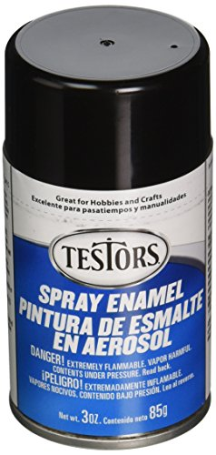 Testors, Gloss Black TENAMEL-1247 Aerosol Enamel Paint, 3-Ounce, 1, 3 Ounce