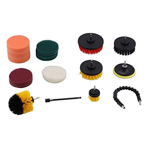 Equipo del cepillo del taladro, cepillo de limpieza de los accesorios del cepillo del taladro para tienda del túnel de lavado coche