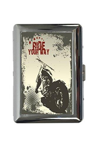 Zigarettenetui Box Retro Biker Motorrad Ride Bedruckt