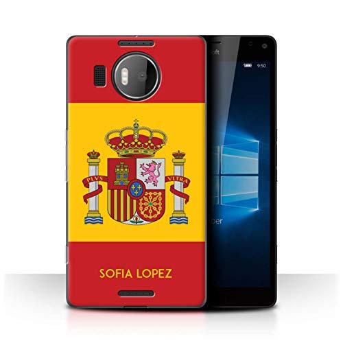 eSwish Personalizado Bandera Nacional Nación Personalizar Funda para el Microsoft Lumia 950 XL/Español/De/España Diseño/Inicial/Nombre/Texto Carcasa/Estuche/Case