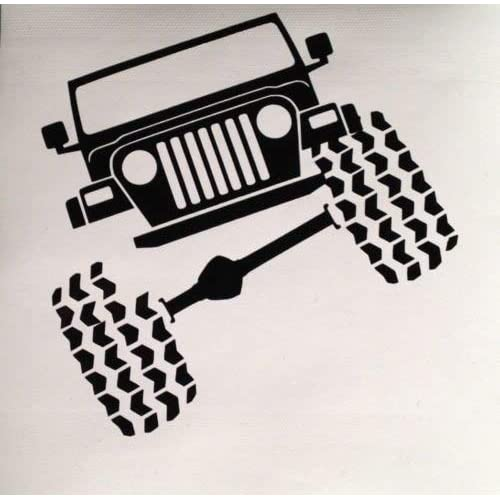 """FGD 4X4 Off Road White Decal 40/"""" W x 3.5/"""" H"""