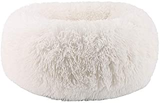 BODISEINT Modern Soft Plush Round Pet Bed for Cats or Small Dogs, Mini Medium Sized Dog Cat Bed Self Warming Autumn Winter...
