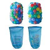 HonXins 2pcs Kids Ball Storage Net Bag Toy Net Multi-Purpose Toys Organizer Toy Storage