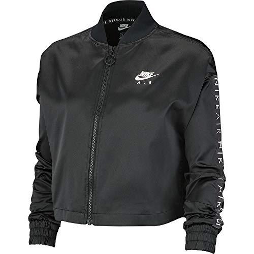 Nike Damen Jacke Nsw Air Trak Satin , Black, M, BV4779