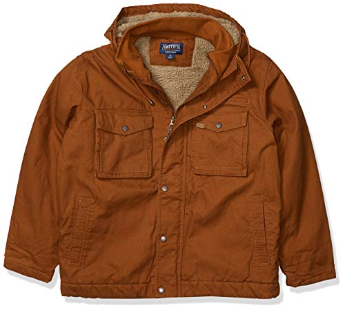 Smith's Workwear Men's Sherpa Lined Duck Canvas Jacket, Camel Brown, X-Large