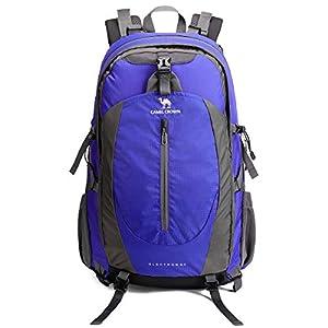 CAMEL CROWN 50L Mochila de Senderismo con Cubierta Impermeable Mochila de Escalada Daypack de Gran Capacidad para Viaje… 15