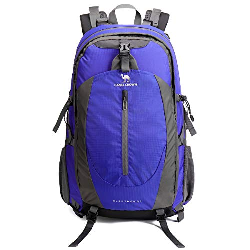 CAMEL CROWN Travel Backpack 50L Rucksack Waterproof Hiking Backpack Lightweight Daypack for Outdoor Camping Trekking Walking