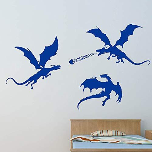 FXBSZ Anpassbare Dinosaurier Silhouette Wandaufkleber Vinyl Aufkleber Dekoration Kinderspielzimmer Schlafzimmer Kinderzimmer Kinder abnehmbar Pink 90cm x 54cm