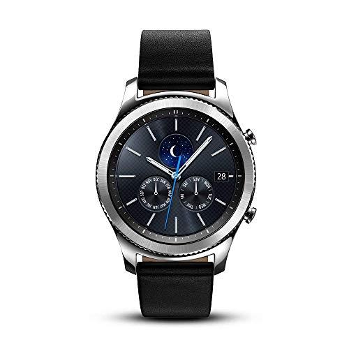 Samsung Gear S3 Classic SM-R770 Smartwatch - Black Leather w/ Large Band (Renewed)