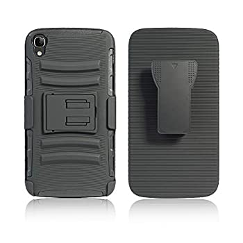 Cocomii Striped Belt Clip Holster Alcatel OneTouch Idol 3 5.5in Case Slim Thin Matte Kickstand Swivel Belt Clip Holster Protection Bumper Cover Compatible with Alcatel OneTouch Idol 3 5.5in  Black