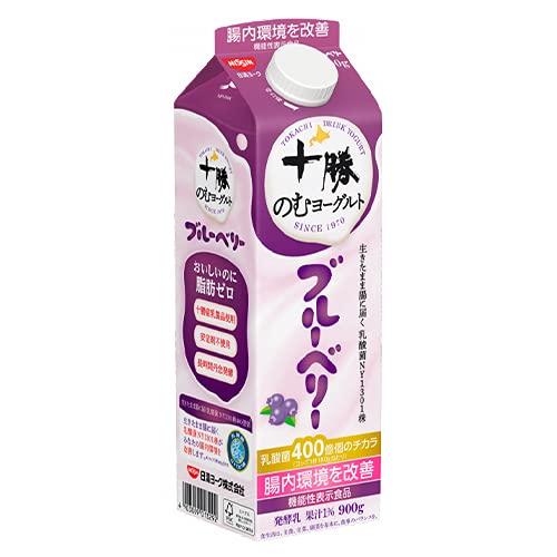 日清ヨーク 十勝のむヨーグルト ブルーベリー 900g×6個 【冷蔵】
