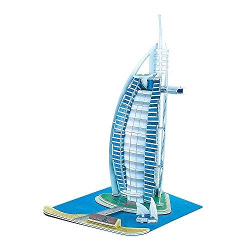 Jigsaw 3D Burj Al Arab no de Madera Puzzle
