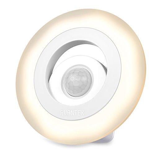 AVANTEK Batteriebetriebenes LED Nachtlichter mit Bewegungsmelder, Magnetische Nachtleuchte, 150 Lumen, Warmweiß 3000K für Schlafzimmer, Flur, Keller usw.