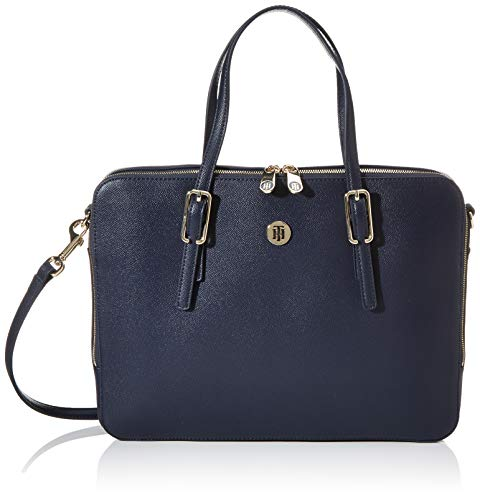 Tommy Hilfiger Damen Honey Computer Bag Laptop Tasche, Blau (Sky Captain), 1x1x1 cm