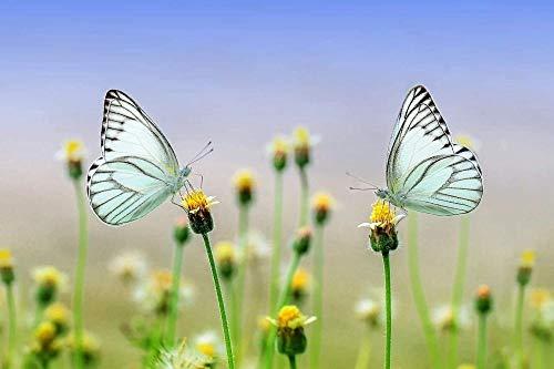 HyaoZpt Holzpuzzle 1000 Stücke Lernspielzeug,Adult Butterfly Pattern Auf Blumen,Die Kinder-BHIn Spielen Als Geschenk An Kinder Entwickeln