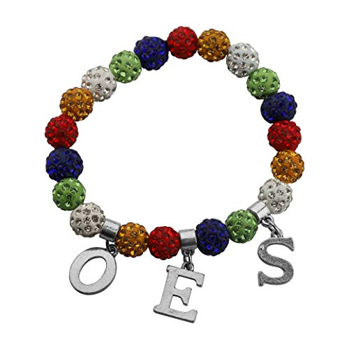 CENWA Order of the Eastern Star OES Jewelry OES Five Colors Beads Bracelet OES Sorority Jewelry Sorority Gifts (OES br)