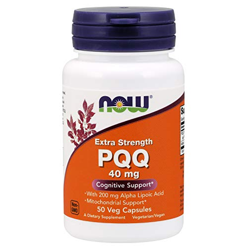 Now Supplements, PQQ 40 mg with 200 mg Alpha Lipoic Acid, Extra Strength, 50 Veg Capsules