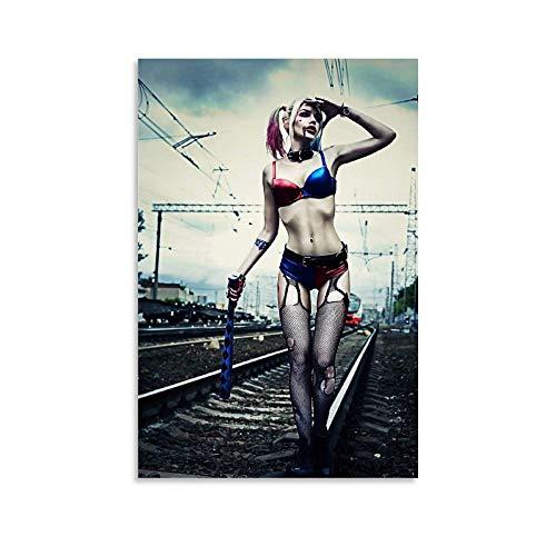 FGHB DC Harley Quinn Poster décoratif sur toile pour salon, chambre à coucher 30x 45cm