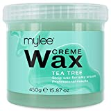 Mylee Tea Tree Soft Creme Wax for Sensitive Skin 450g, Microwavable & Wax Heater Friendly, Ideal for...