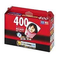 (業務用セット) インクジェット用紙 Digio デジカメ印画紙 強光沢 L判 400枚 JPSK-L-400G【×5セット】 ds-1522315