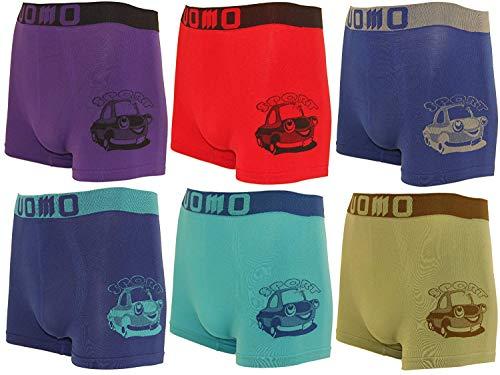 BestSale247 12 Stück Kinder Jungen Boxershorts Unterhosen Kids Unterwäsche Mikrofaser 98 bis 164 (110-122, Auto)