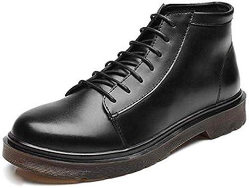 Fuxitoggo Winter-Trend Herren Stiefel hohe Plüsch Baumwolle im Freien Rutschfeste Rutschfeste Rutschfeste Schuhe (Farbe   Schwarz Größe   42)  großhandel billig