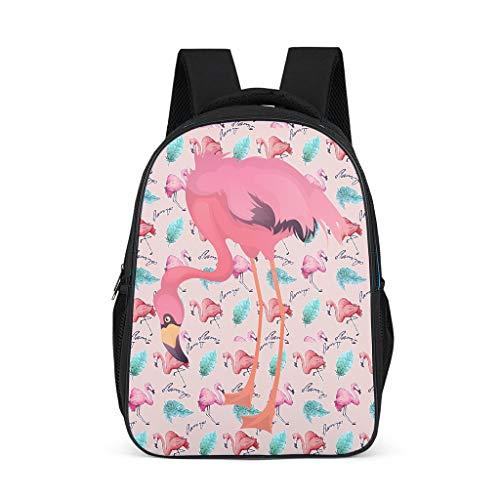 O5KFD&8 Rucksack Flamingo Daypack Herren, Rucksack Für Jungen - Flamingo Große Schultasche Damen Schultasche Für Jungs Grey OneSize