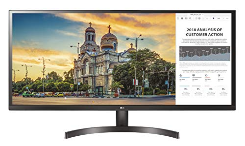 "LG 34WK500 Monitor, 34"", 21:9 UltraWide LED IPS, 2560x1080, AMD FreeSync 75Hz, Multitasking, 2 HDMI, Uscita Cuffie"