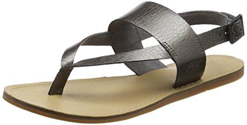 Timberland Carolista Ankle Thong, Sandali Donna, Gris Dark Grey Metallic, 41 EU