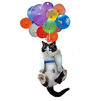 LONDADI Cat Car Hanging Ornament with Colorful Balloon Car Hanging Decoration Car Interior Decor Car Pendant Creative Cute Cat Women Girl Car Interior Accessories Best Gift for Cat Lovers Cat