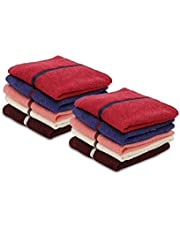 Palatial Lifestyles 10 Piece Face Towel Set.Ultra-Soft for Sensitive Skins,Highly Absorbent & 100% Cotton Zero Twist Towels,Size 30x30 cm(12 X 12 Inch)