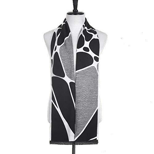 LCSD bufandas Modelo negro y negro del otoño y del invierno de Corea de los hombres de la bufanda de la cachemira imitación del color mezclado Jacquard japonesa salvaje Estudiante regalo bufanda calie