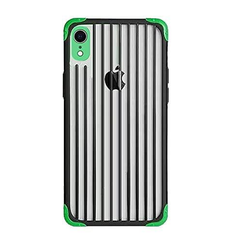 Rdyi6ba8 Funda Compatible con iPhone XR(6.1''), Resistente Dura PC + TPU Silicona Bumper, [A Prueba de Golpes] [Ligero] para iPhone XR, Verde