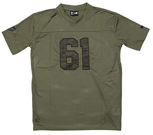 New Era Minnesota Vikings T Shirt NFL Herren Damen Wei? Salute To Service Gr?n - 4XL