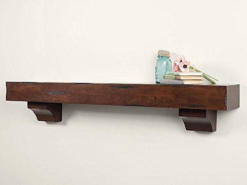 Breckenridge 60' Inch Fireplace Mantel Shelf - Cherry Distressed