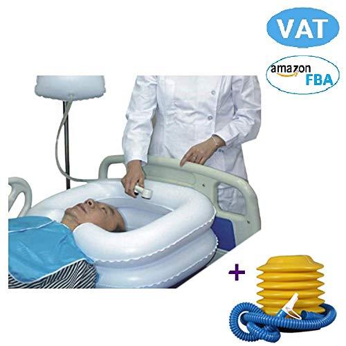 Shampoo lavandino supporto per collo gonfiabile per lavare i capelli ciotola da viaggio lavaggio vasca da bagno per disabili handicap anziani gravidanza con pompa tubo di scarico post-chirurgiche