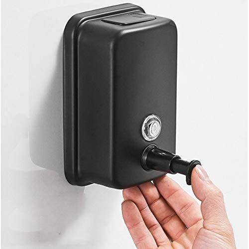 WSLWJH Zeepdispenser voor vloeibare zeep, roestvrij staal, zwart, zeepdispenser, voor badkamer, wandaccessoires, hotelaccessoires 500 mm