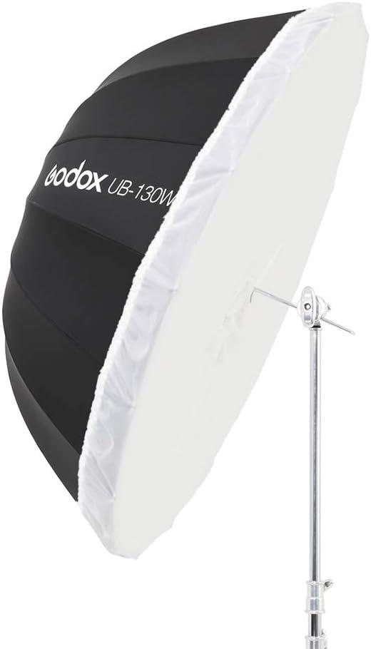 Godox UB-165W 65in 165cm Parabolic Black White Reflective Umbrella Studio Light Umbrella with Black Silver Diffuser Cover Cloth UB-165W