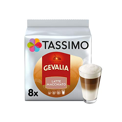 TASSIMO Gevalia Latte Macchiato Kaffee Kapseln Pods T Discs 5er Pack, 40 Getränke