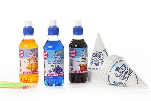Snow Cone Syrup 'Sugar Free' Flavours (x3) x250ml. not Slush Puppie 25 Free...