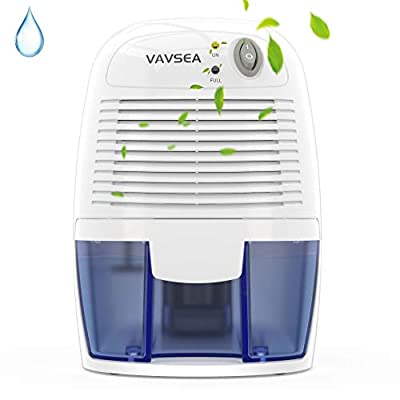 VAVSEA Dehumidifiers 500ml (17oz) Capacity, Compact and Portable Mini Air Dehumidifiers with Ultra Quiet and Auto-Off Function for Removing Moisture in Home, Kitchen, Bedroom, Bathroom, Wardrobe