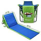 GigaTent Portable Beach Lounge Chair Mat Adjustable Backrest with...