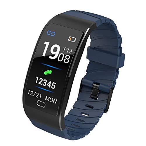 Buy Bargain QKAGK Fitness Tracker Activity Tracker Pedometer Heart Rate Sleep Monitor IP68 Waterproof Call SMS Reminder Compatible Android iOS Sports Bracelet