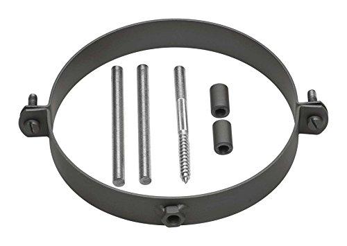 Rohrschellen-Set 120er Ofenrohrschelle schwarz