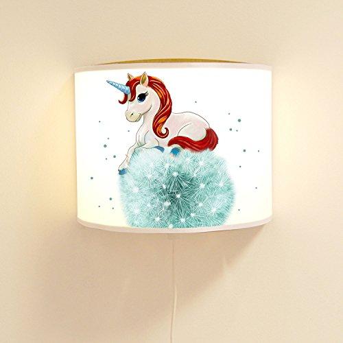 ilka parey wandtattoo-welt Wandtattoo-welt® Ls83 Lampe Murale pour Enfant Motif Licorne sur Pissenlit